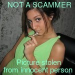 pictures most frequently used by female scammers