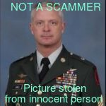 photos used in military scams